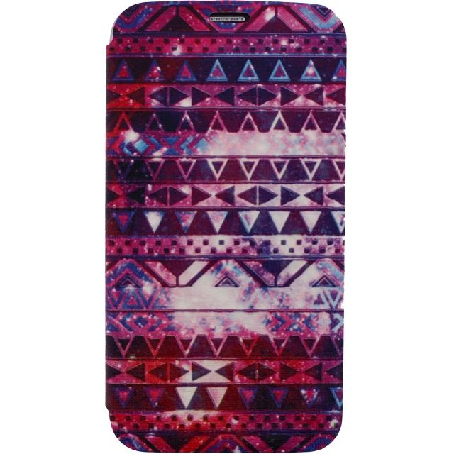 Afbeelding van Xccess Book Stand Case Samsung Galaxy S4 Mini I9195 Aztec Purple Xcc
