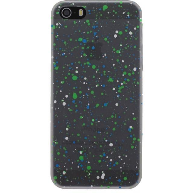 Afbeelding van Xccess Cover Spray Paint Glow Apple iPhone 5/5S/SE Black