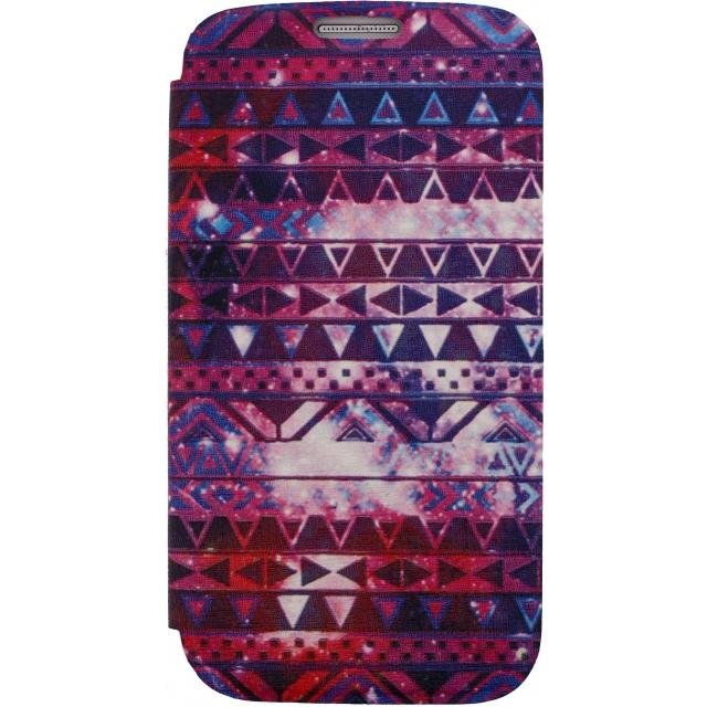 Xccess Book Stand Case Samsung Galaxy S4 I9500/I9505 Aztec Purple Xccess Book Stand Case Samsung Galaxy S4 I9500/I9505 Aztec Purple