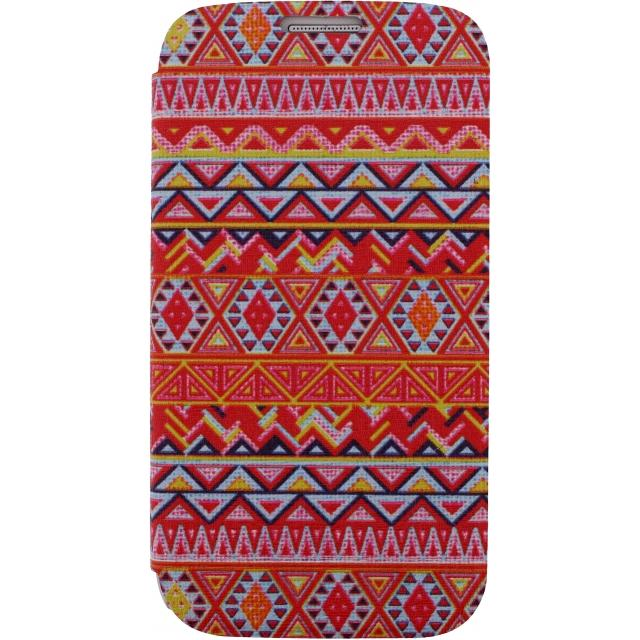Afbeelding van Xccess Book Stand Case Samsung Galaxy S5/S5 Plus/S5 Neo Aztec Orange