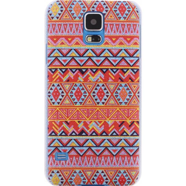 Afbeelding van Xccess Cover Samsung Galaxy S4 I9500/I9505 Orange Aztec