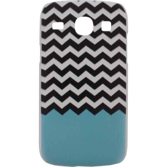 Xccess Cover Samsung Galaxy Core I8260 Turquoise Stripes Xccess Cover Samsung Galaxy Core I8260 Turquoise Stripes