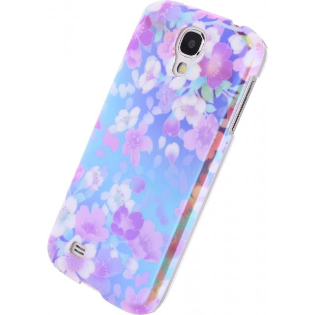 Afbeelding van Xccess Oil Cover Samsung Galaxy S4 I9500/I9505 Turquoise Flower Xcce