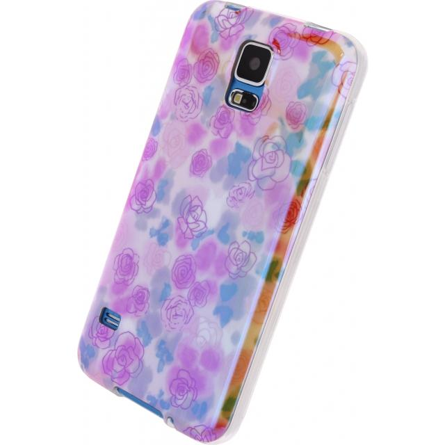 Afbeelding van Xccess Oil TPU Case Samsung Galaxy S5/S5 Plus/S5 Neo Yellow Flower X