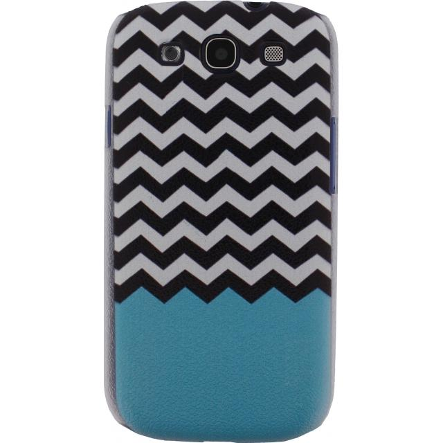 Afbeelding van Xccess Cover Samsung Galaxy S4 I9500/I9505 Turquoise Stripes