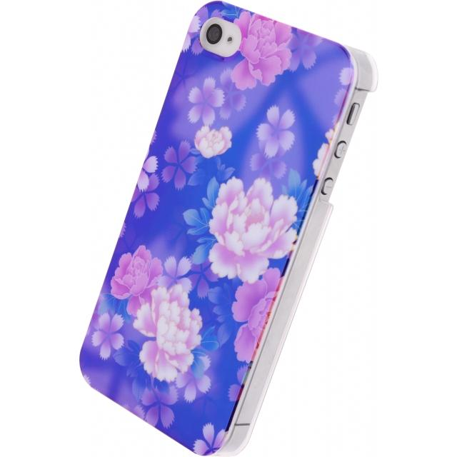 Xccess Oil Cover Apple iPhone 4/4S Purple Flower Xccess Oil Cover Apple iPhone 4/4S Purple Flower