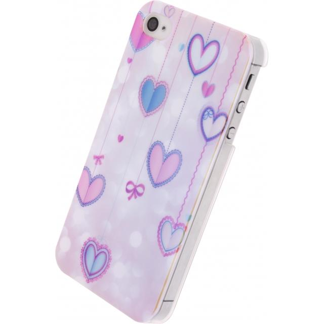 Xccess Oil Cover Apple iPhone 4/4S Hearts Xccess Oil Cover Apple iPhone 4/4S Hearts