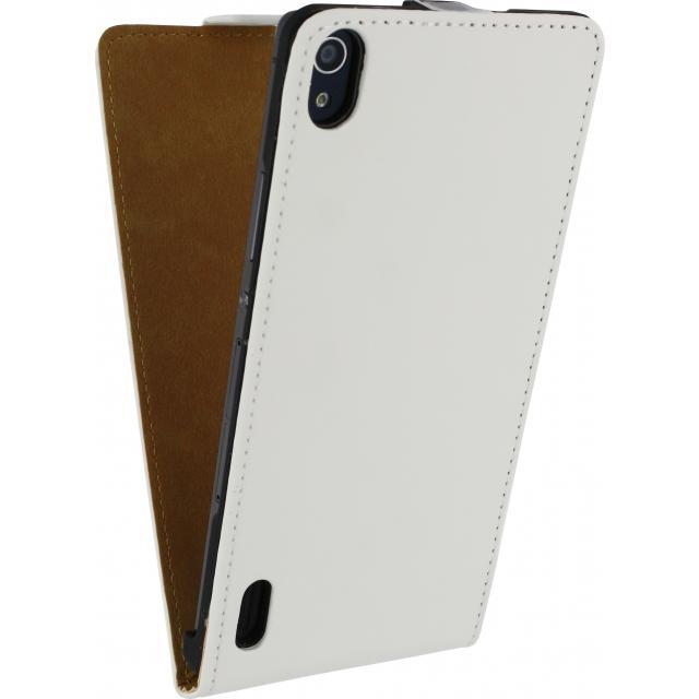 Afbeelding van Mobilize Ultra Slim Flip Case Huawei Ascend P7 White