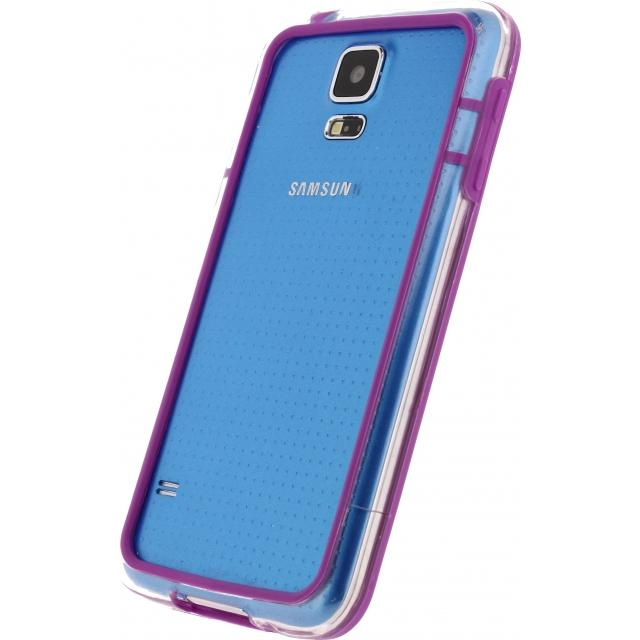 Afbeelding van Xccess Hard Bumper Case Samsung Galaxy S5/S5 Plus/S5 Neo Purple/Transp