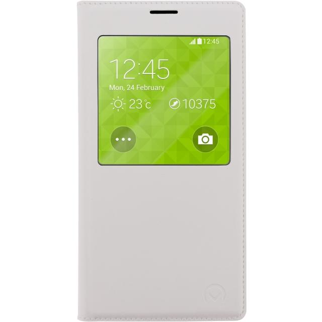 Mobilize S-View Leather Cover Samsung Galaxy S5 Mini White Mobilize S-View Leather Cover Samsung Galaxy S5 Mini White