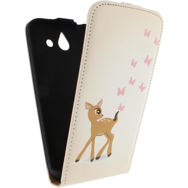 Afbeelding van Mobilize Ultra Slim Flip Case Huawei Ascend P7 Deer