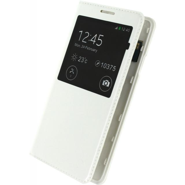 Afbeelding van Mobilize S View Leather Cover Samsung Galaxy S5 Mini White