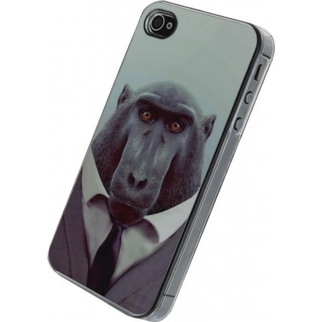 Xccess Metal Plate Cover Apple iPhone 4/4S Funny Chimpanzee Xccess Metal Plate Cover Apple iPhone 4/4S Funny Chimpanzee