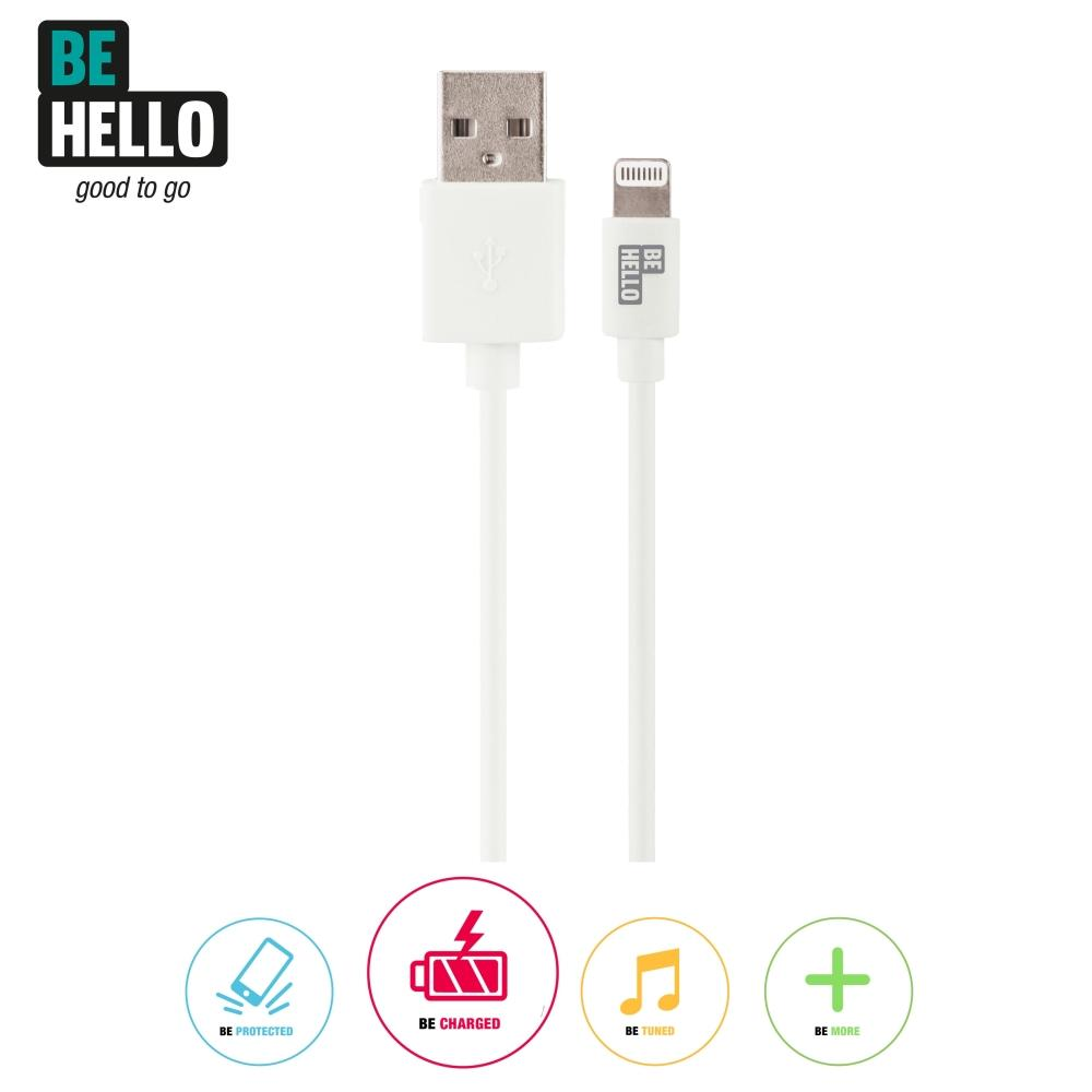 Afbeelding van BeHello Charge and Synch Cable Lightning 0.15m White