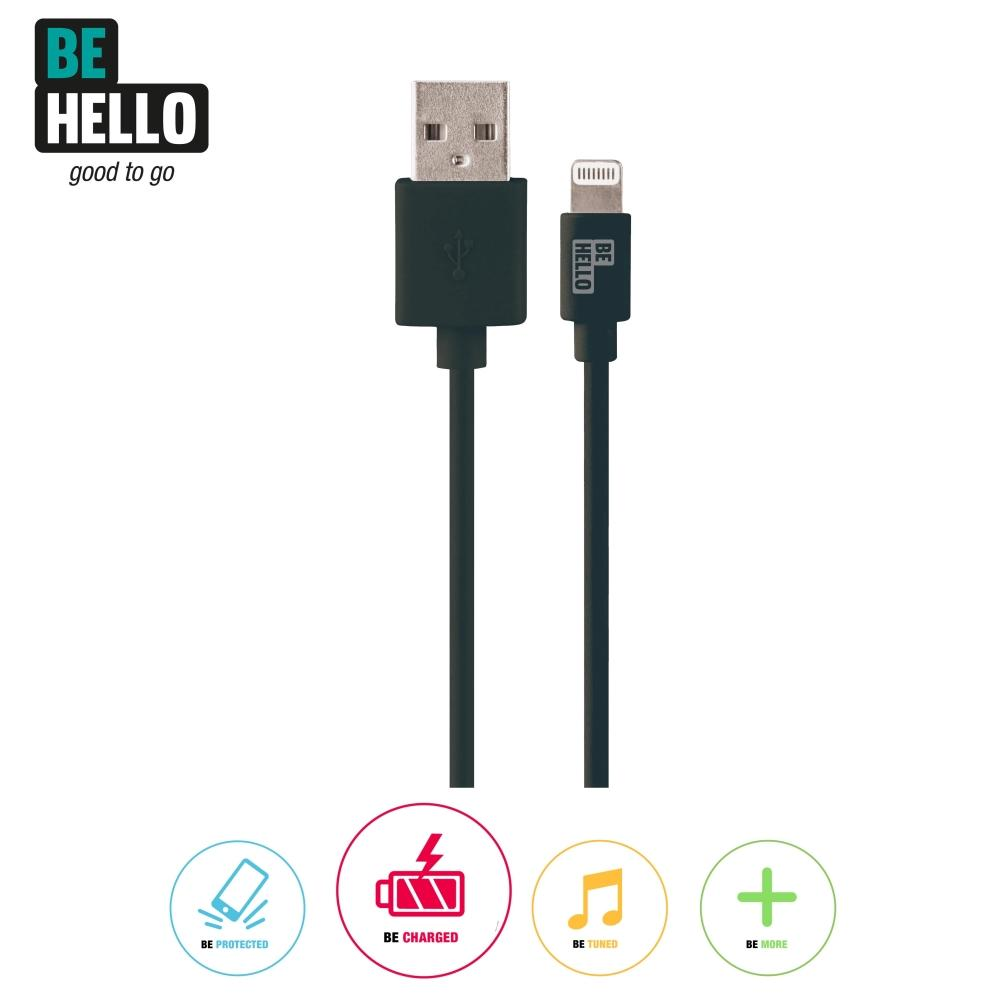 Afbeelding van BeHello Charge and Synch Cable Lightning 0.15m Black