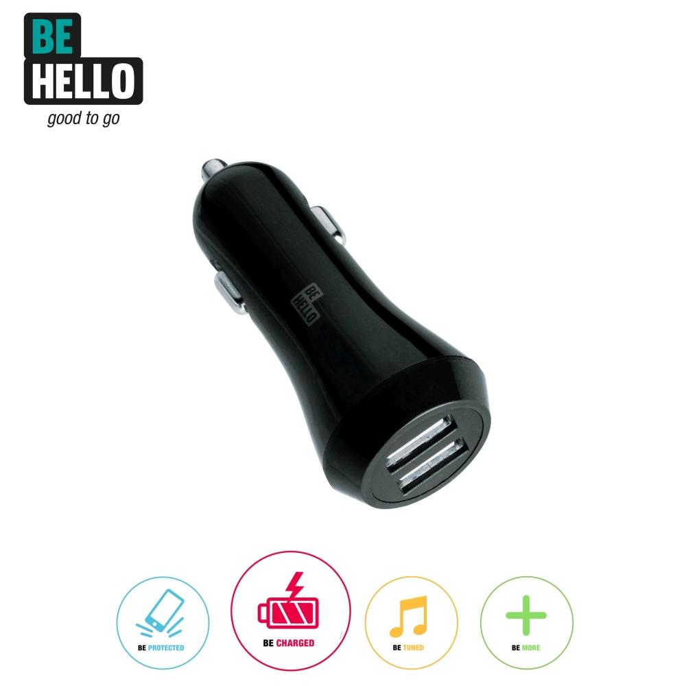 Afbeelding van BeHello Car Charger 2 USB Portals 3.4A Black