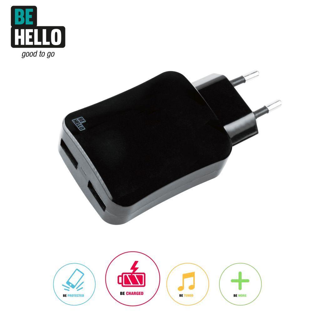 Afbeelding van BeHello Travel Charger 2 USB 4.2A Black