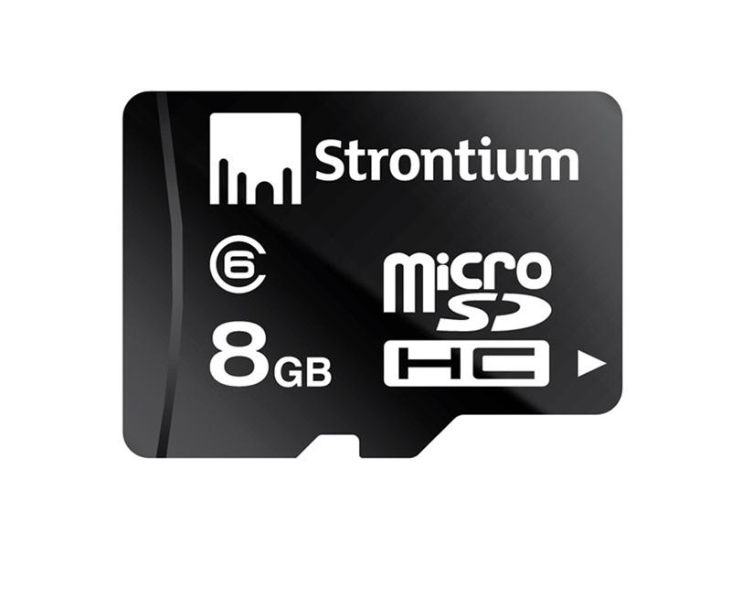 Micro SDHC geheugenkaart - 8 GB Opslagcapaciteit: 8 GB