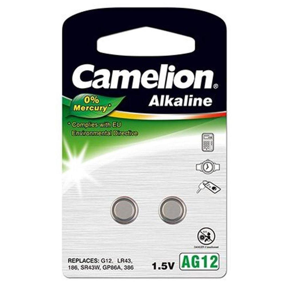 Afbeelding van Camelion Alkaline 0% Mecury AG12 1,5V blister 2