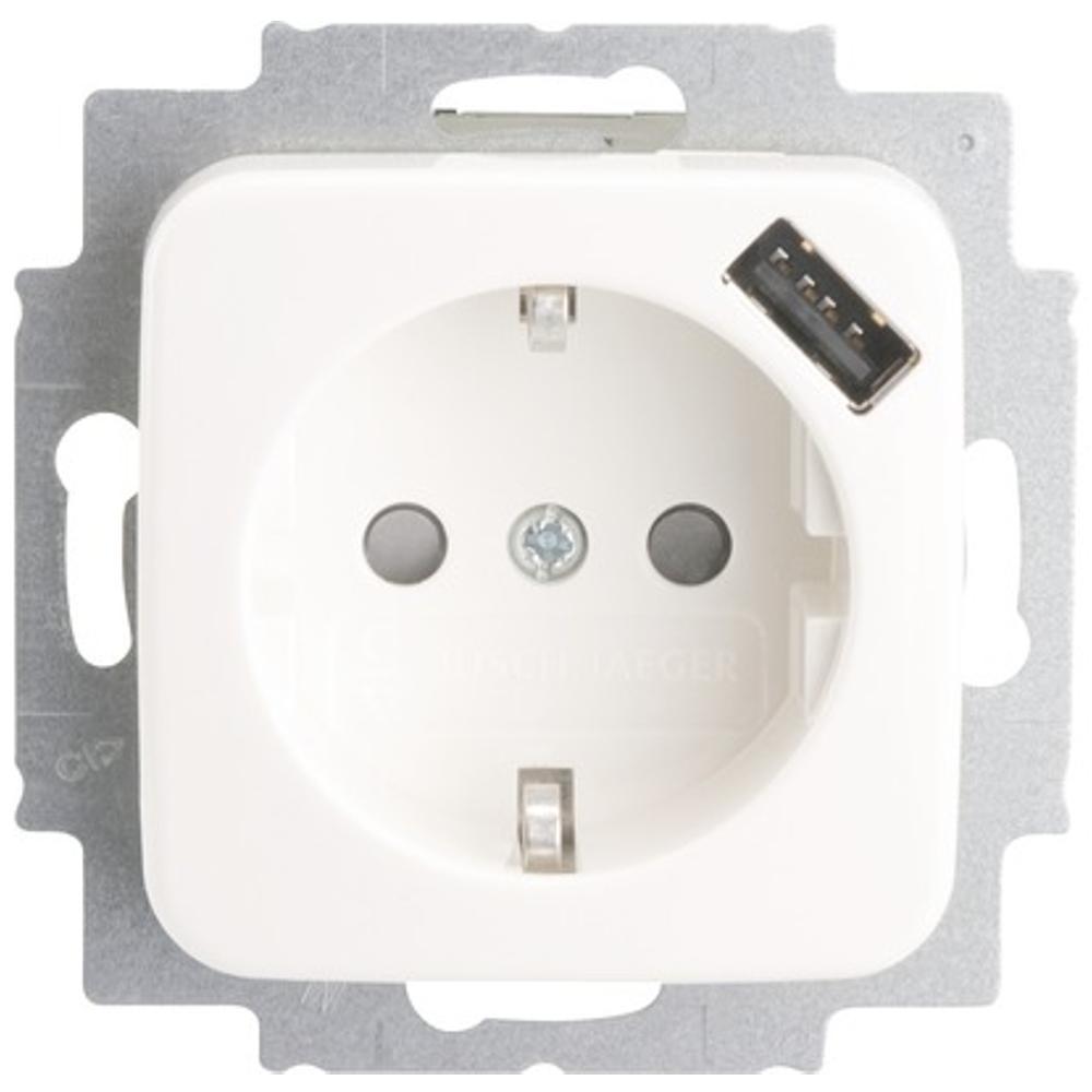 Afbeelding van Inbouw stopcontact Met USB Busch jaeger