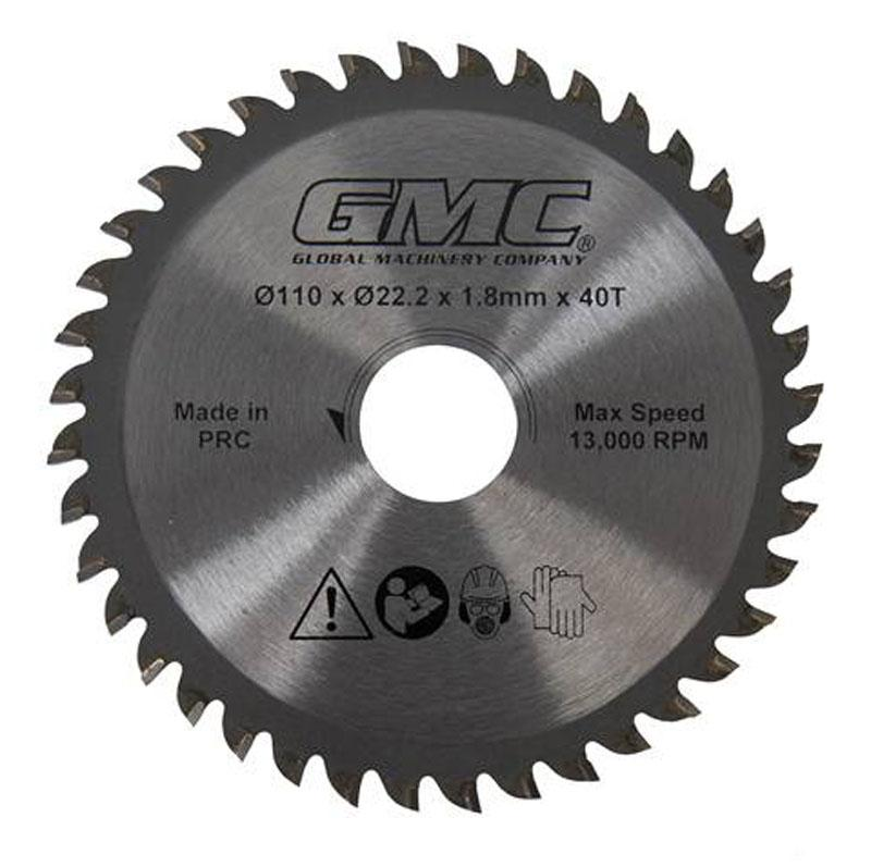 Afbeelding van GMC 586371 HM Cirkelzaagblad voor GTS1500 110 x 22,23 40T Hout