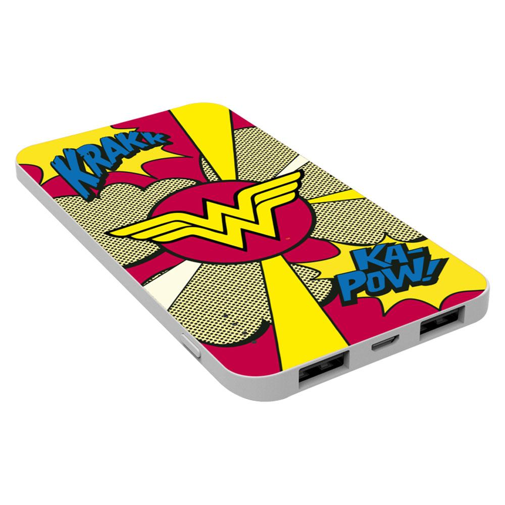 EMTEC Power Bank 5000mAh Slim U750 WONDERWOMAN Capaciteit: 5.000 mAh