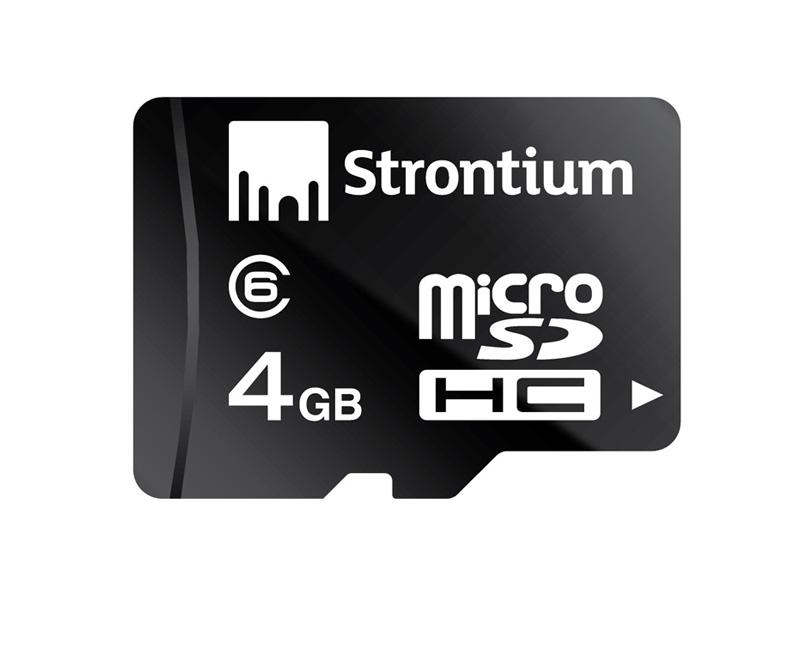 Micro SD kaart - 4 GB Opslagcapaciteit: 4 GB