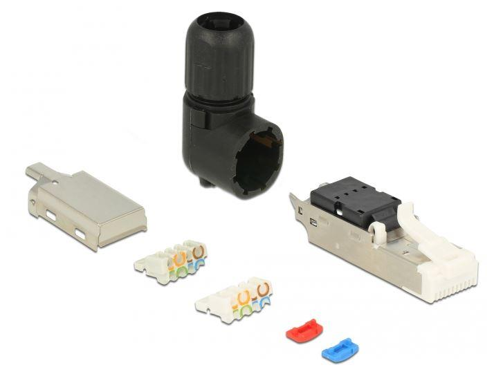 Cat6a modulaire RJ45 connector - Haaks