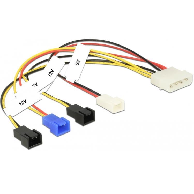 Interne voedingskabel - Molex naar 4-polige ventilator kabel ...