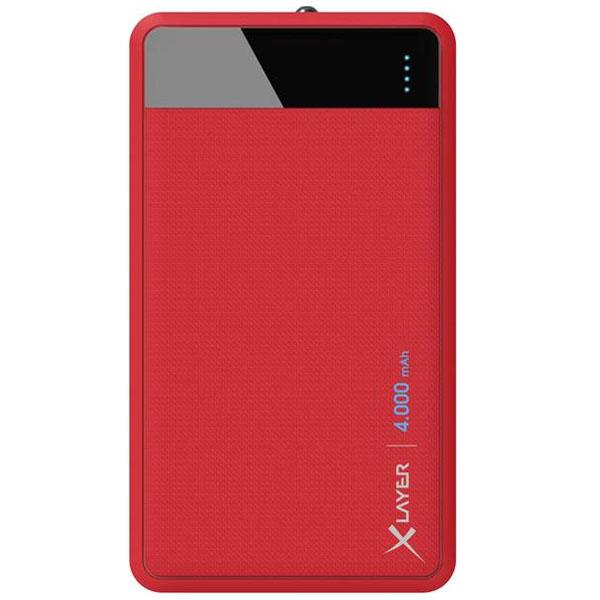Xlayer Powerbank Colour Line rood 4000mAh - 215851 Xlayer Powerbank Colour Line rood 4000mAh