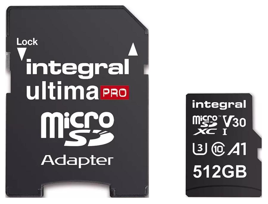Micro SD kaart - 512 GB Opslagcapaciteit: 512 GB
