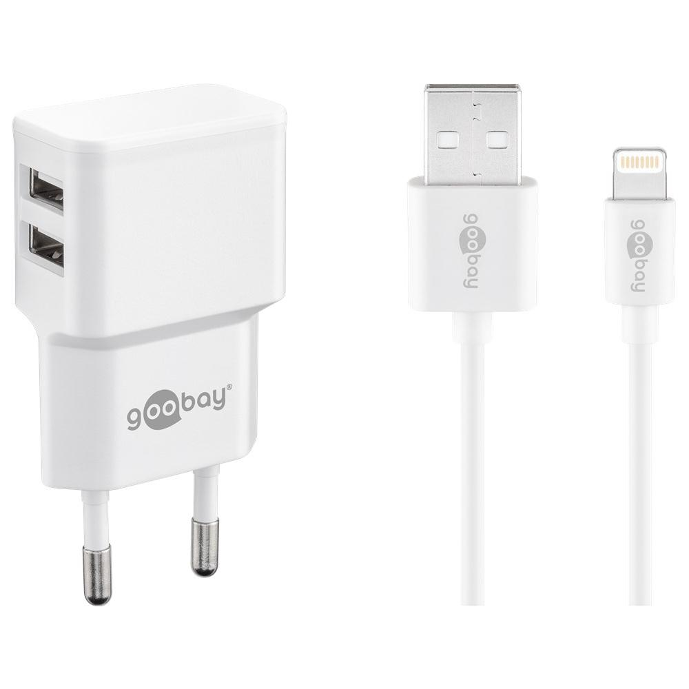Lightning USB lader - 2.400 mA