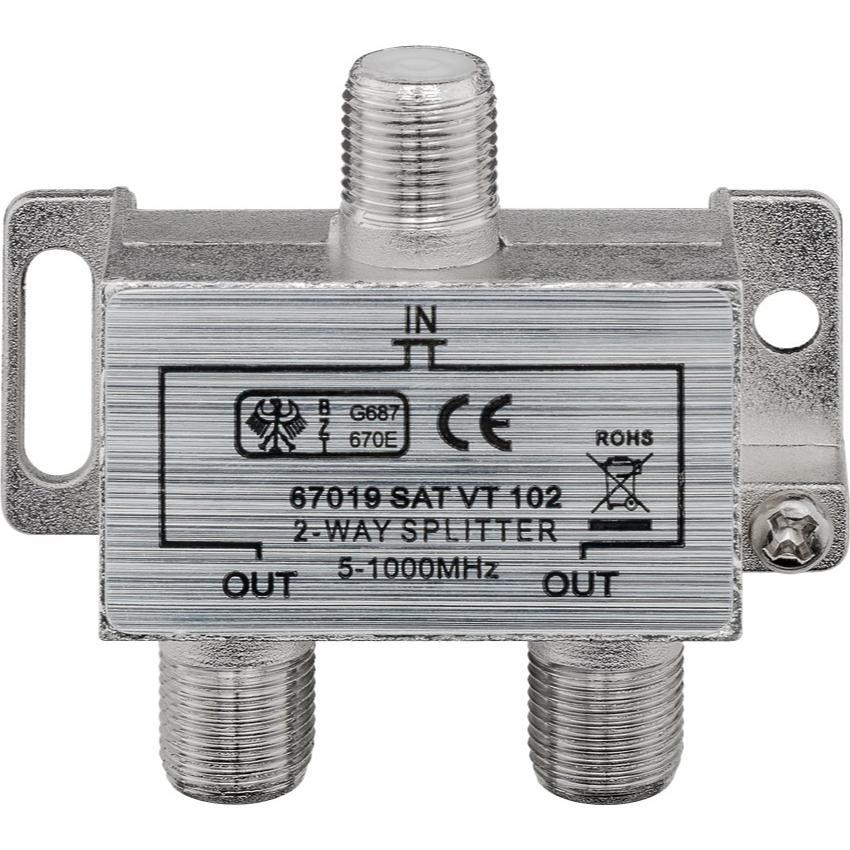 Bekend Coaxsplitter voor analoog of digitaal signaal bij Allekabels AY37
